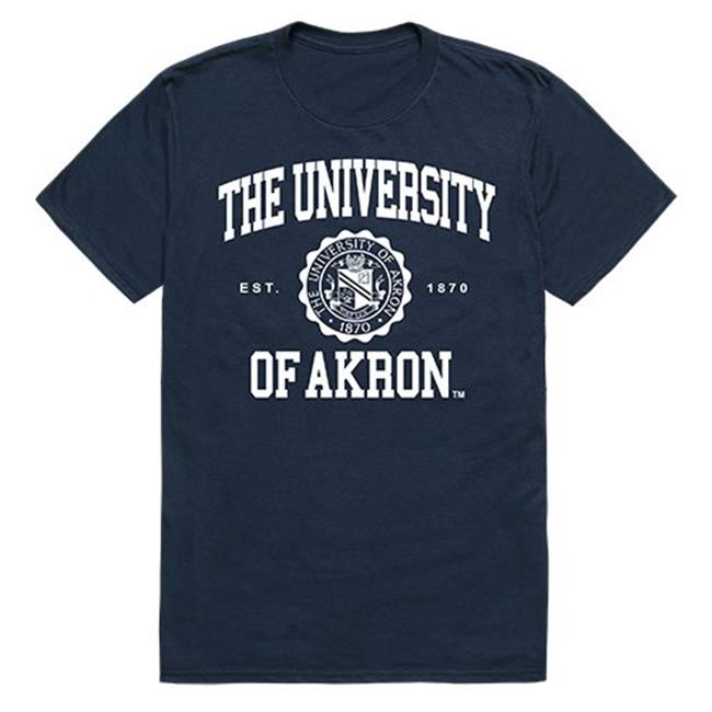 W Republic Apparel 526-100-NVY-05 The University of Akron Seal Tee Shirt for Men - Navy, 2XL - image 1 de 1