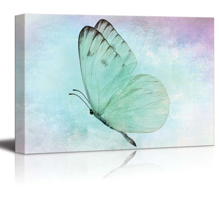 wall26 Butterfly in Mid Flight - Canvas Art Home Decor - 16x24 inches