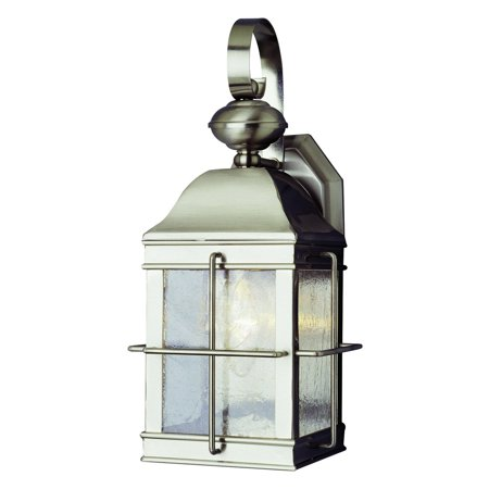 Trans Globe 4632 BN Coach Lantern - Brushed Nickel - 7W in.
