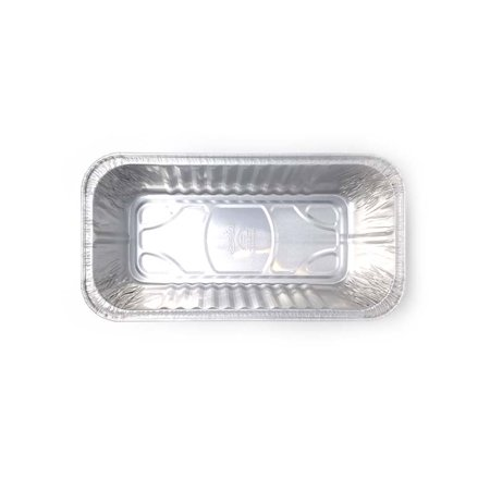Large Loaf Pans - Disposable Aluminum Foil 5 lbs Bread Pans - Perfect for Bakery, Homemade Cakes, Meatloaf, Quiche & Food Serving - 12