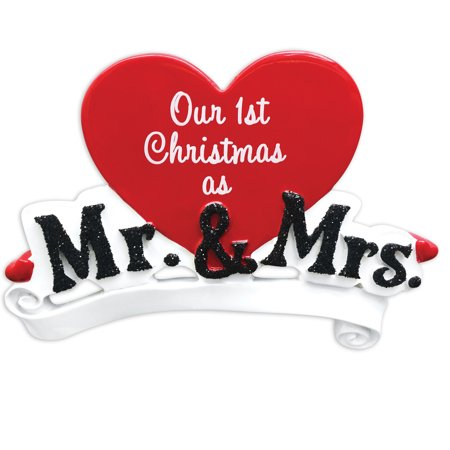 PERSONALIZED CHRISTMAS ORNAMENTS COUPLES- MR. AND MRS. KIT