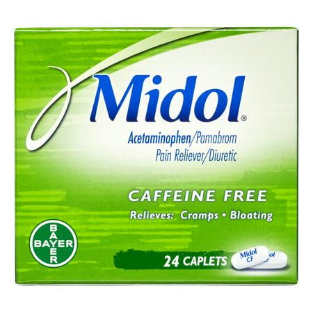 Midol caféine libre Caplets, 24 Ct
