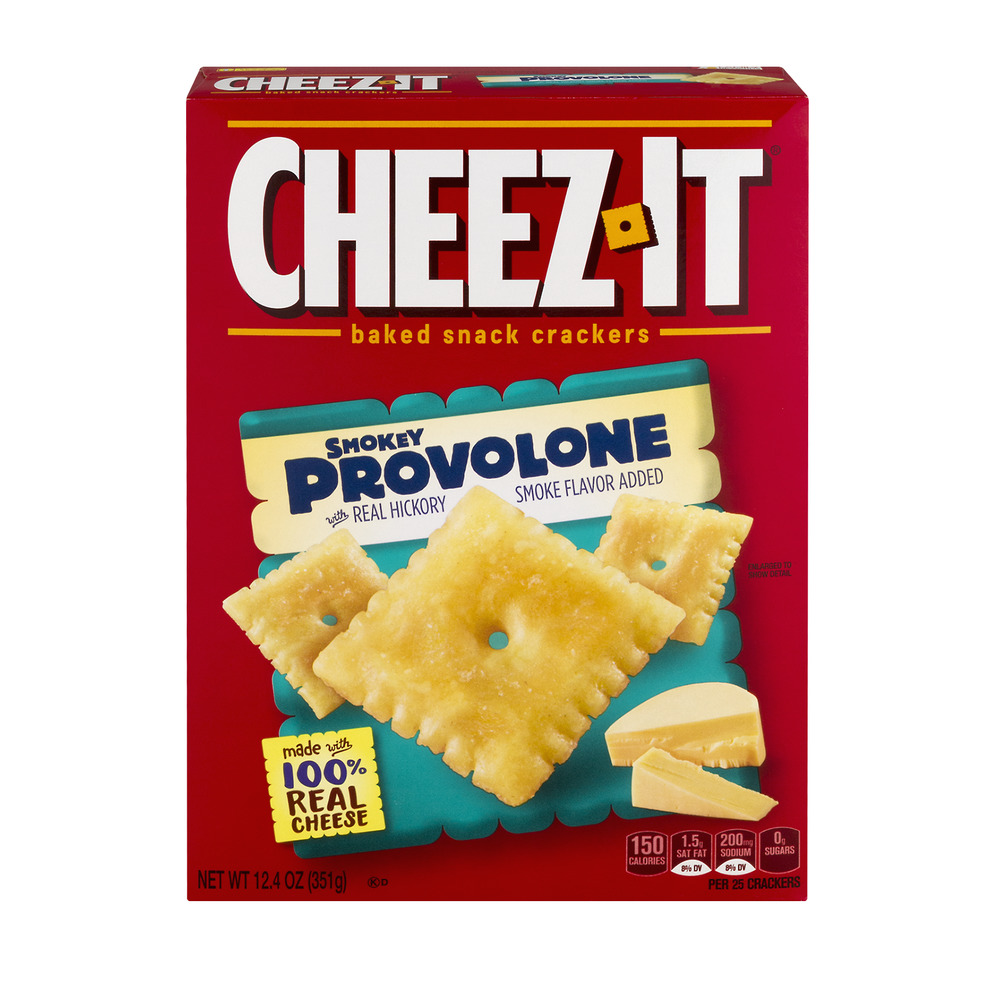 Cheez-It Smokey Provolone Baked Snack Crackers, 12.4 oz