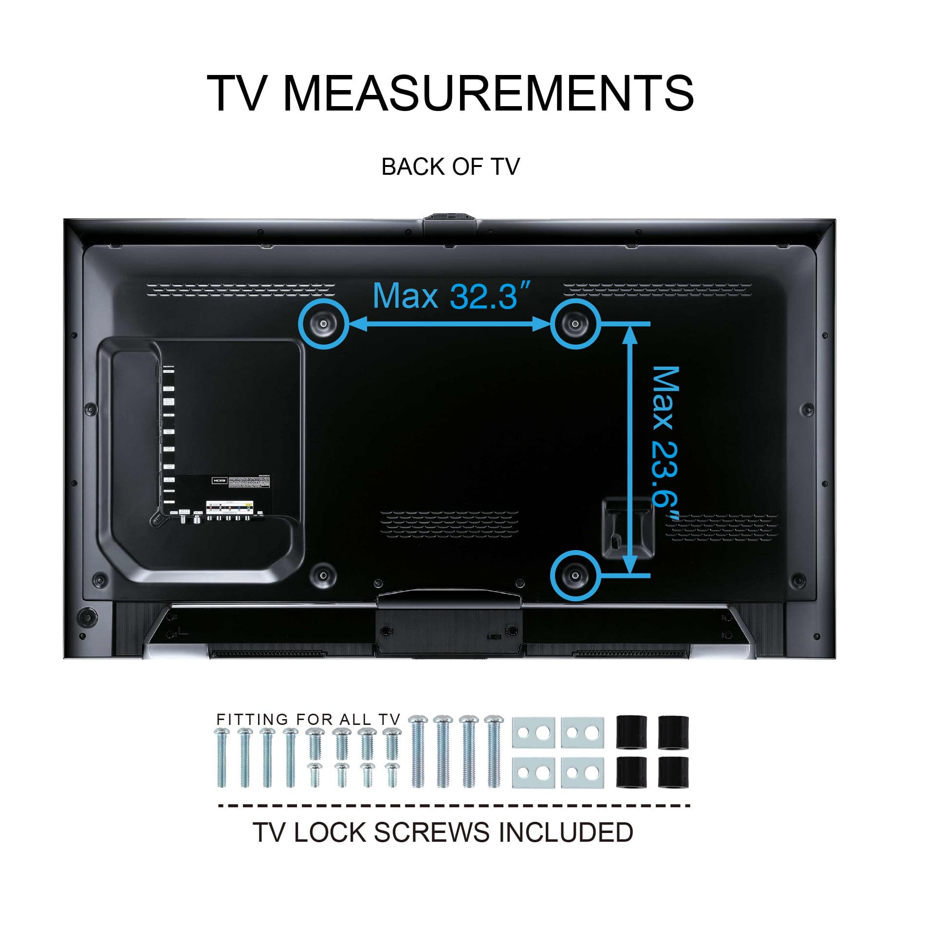 "Fitueyes Universal TV Stand Pedestal Base Adjust Mount for 50-80/""Sharp LCD LED"