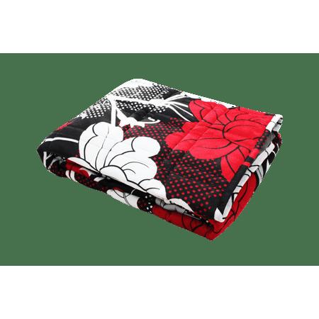 Ultra Plush Pine & River Minky Weighted Blanket (60u0022x80u0022, 15 lb) in Rose Night