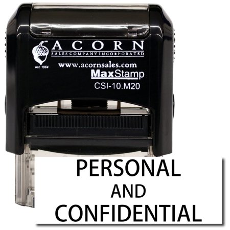 Self-Inking Personal Confidential