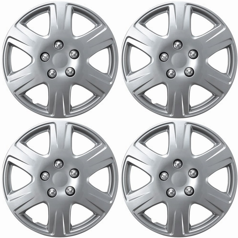 OxGord Hubcaps for Toyota Corolla (Pack of 4) Wheel Covers - 15 Inch, 6 Spoke, Snap On, Silver - Walmart.com