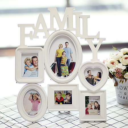 Picture Frame Christmas Ornament (Wall Collage Family Picture Photo Frame Holder Wall Table Display Home Bedroom Decor 12x14.5