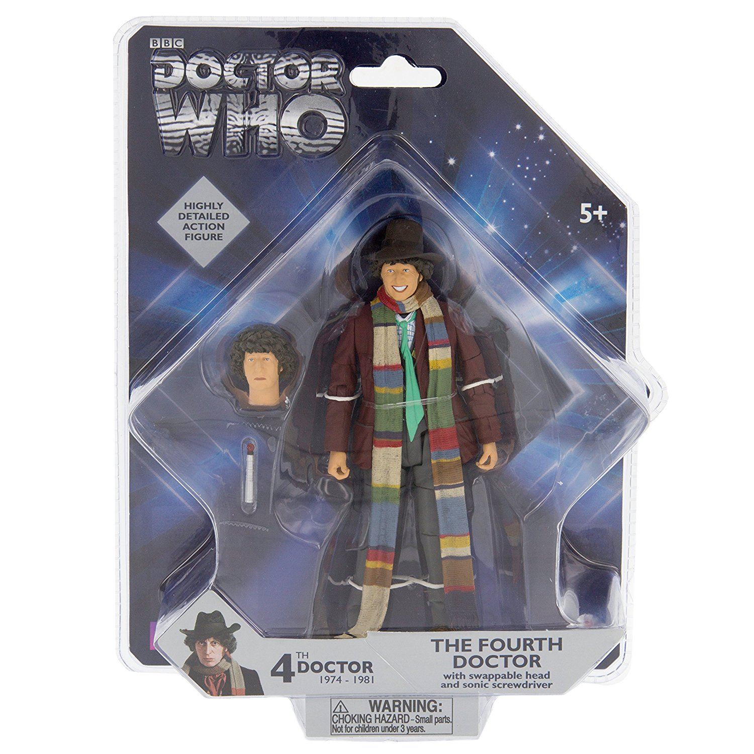 "4th Doctor - Tom Baker Fourth Doctor Action Figure - 5"", Doctor Who 5 action figure from Underground Toys By Doctor Who"