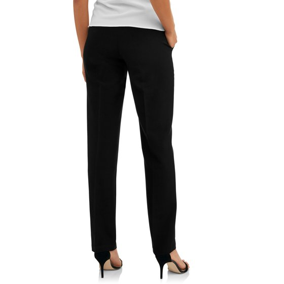 ad09a85a1b2d1 Oh! Mamma - Maternity Demi-Panel Straight-Leg Career Pants with Side  Pockets -- Available in Plus Sizes - Walmart.com