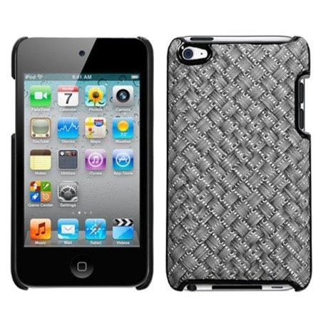 Insten Silver Grey Plaid/Silver Executive Back Case for APPLE: iPod touch (4th Gen)