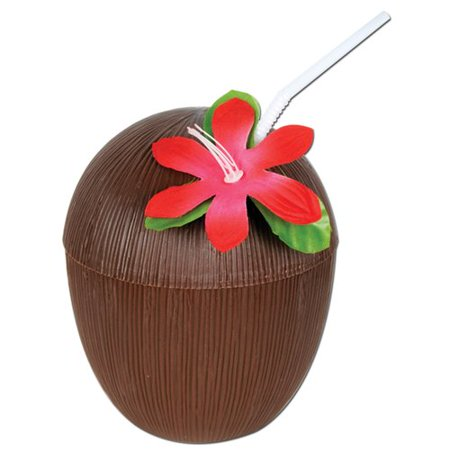The Beistle Company Coconut 16 oz. Plastic Drinking - Coconut Cups