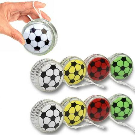 8 X Yo Yo Sports YoYo Soccer Ball Party Favor Toy Children Games Kid Boy Fun (Yoyo Ball)