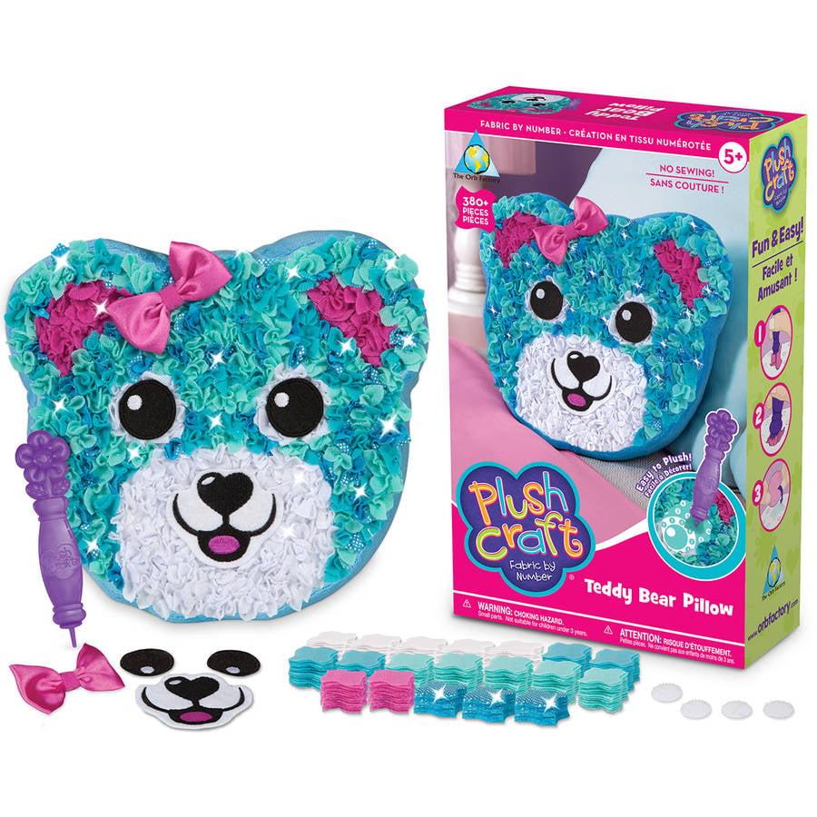 PlushCraft Teddy Bear Pillow Kit, Teddy Bear Pillow by Orb Factory