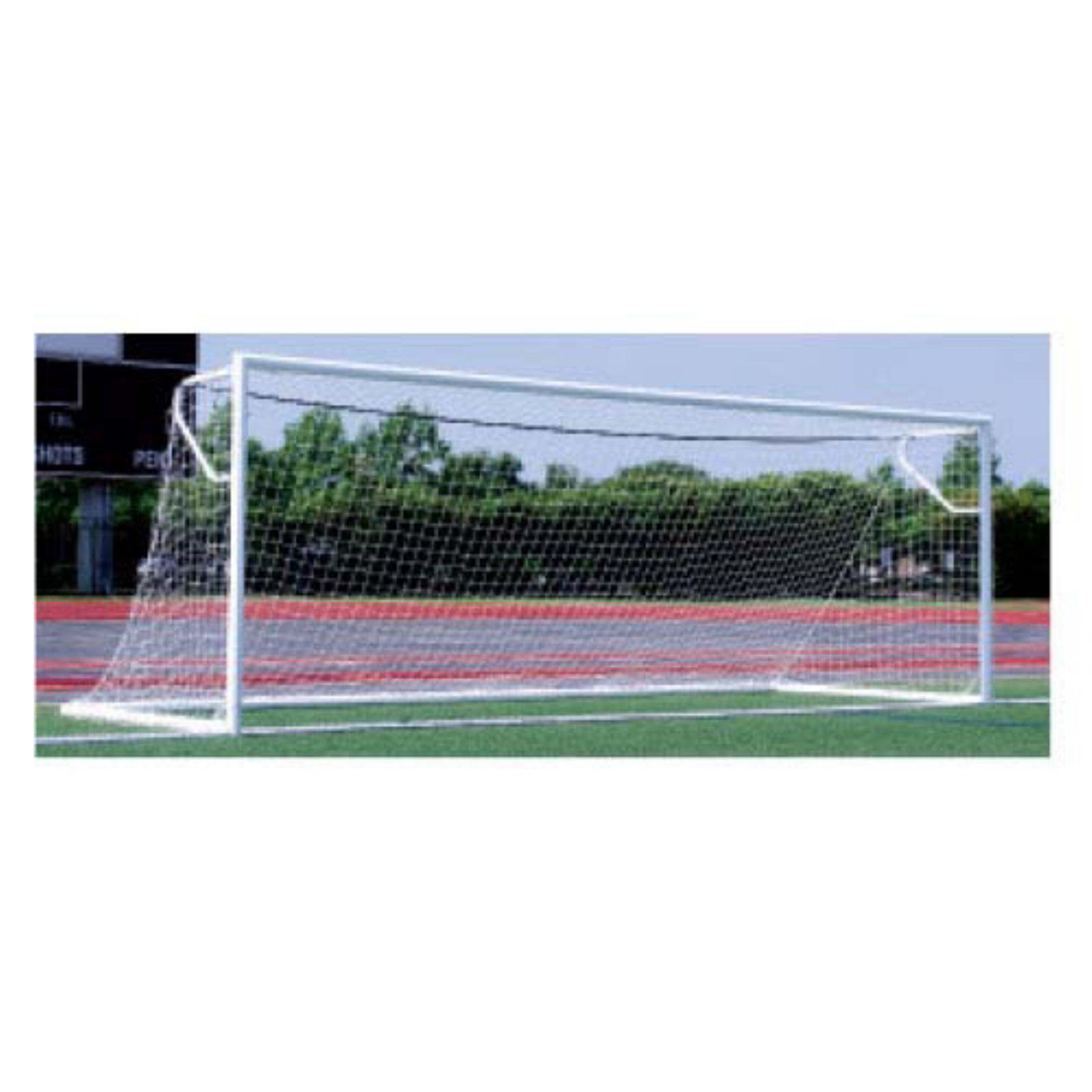 ALUMAGOAL Euro 4 in. Round Aluminum Soccer Goals - Pair - 24' x 8'