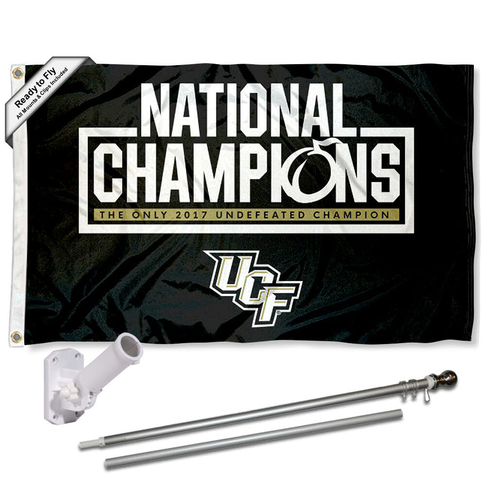 UCF Knights National Champions 3x5 Flag and Accessory Kit