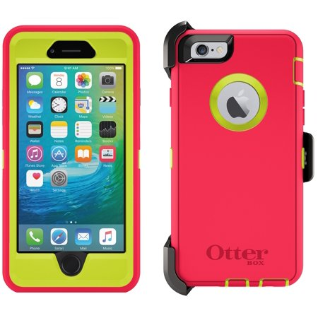 new arrival 87053 4b71e OtterBox Defender Case for iPhone 6 & 6s Plus w/ Holster - Blaze Pink