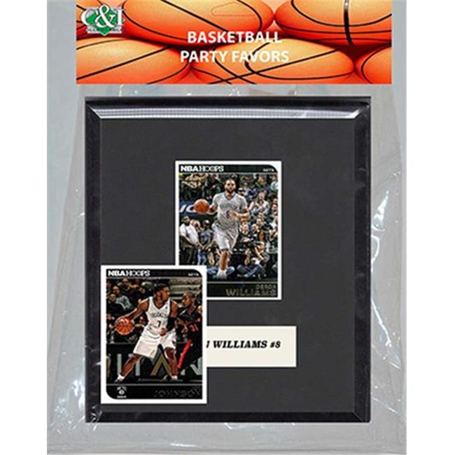Candlcollectables 67LBNETS NBA Brooklyn Nets Party Favor With 6 x 7 Mat and Frame