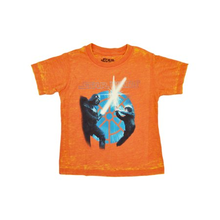 Toddler Boys Luke Skywalker Darth Vader T-Shirt Orange](Luke Skywalker Tunic)