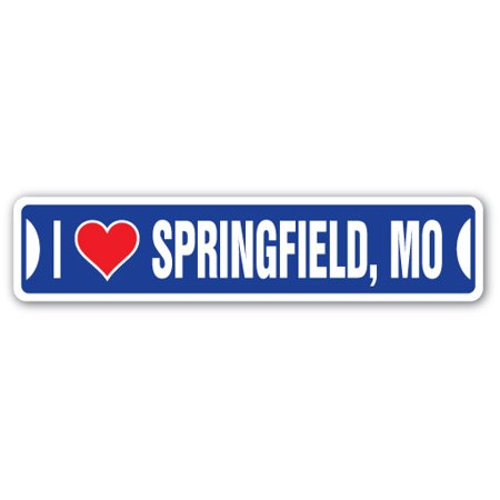 I LOVE SPRINGFIELD, MISSOURI Street Sign mo city state us wall road décor gift - Party City Springfield