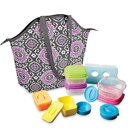 Fit & Fresh Davenport 14-Piece Portion Control Lunch Set w/Davenport Insulated Chiller Bag, The Fit & Fresh® Davenport Bag and Lunch Set is a convenient and.., By Fit (Davenport Stores)