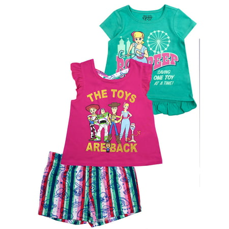 2 Graphic Tops and Legging, 3-Piece Outfit Set (Little Girls & Big Girls)](Little Girl In Toy Story 3)
