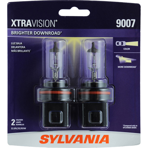 Sylvania 9007 XtraVision Headlight, Contains 2 Bulbs