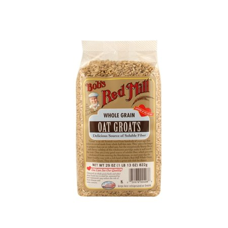 Bobs Red Mill Whole Grain Oats Groats, 29 Oz