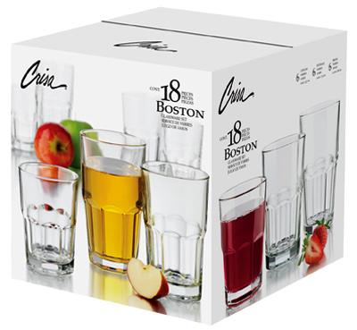 libbey glass boston beverage glassware set 18pc - Libbey Glassware