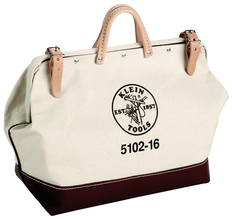 Klein Tools No. 8 Canvas Tool Bags, 1 Compartment, 16 X 6 in