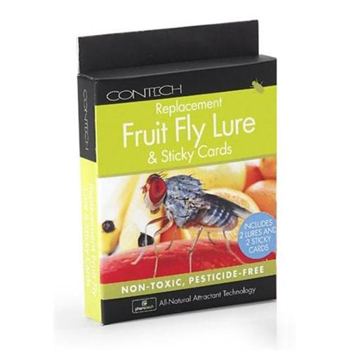 Contech 300000144 Replacement Fruit Fly Lure & Sticky Cards