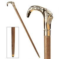 Design Toscano Gentleman's Choice Lion Brass Walking Stick