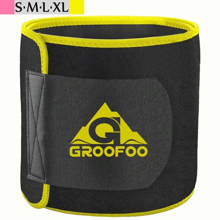 GROOFOO Waist Trimmer Belt, Neoprene Waist Trainer for Women & Men Weight (Best Waist Trimmer Belt Reviews)