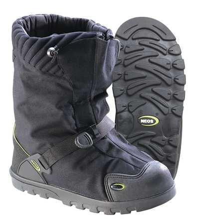 Neos Size 15M Plain Toe Winter Boots, Men's, Black/Gray, EXPG/XXL