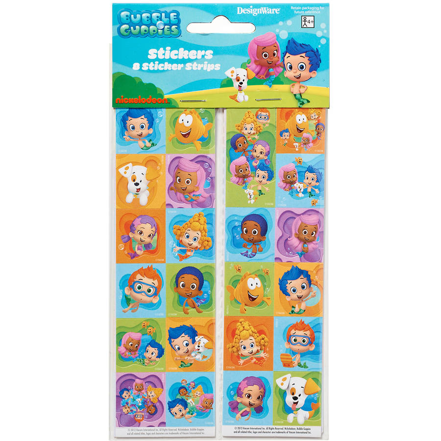 Bubble Guppies Sticker Sheets, 8 Count, Party Supplies