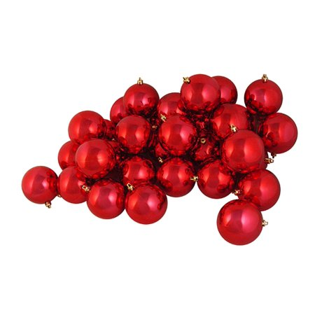 Red Balls (60ct Shiny Red Hot Shatterproof Christmas Ball Ornaments 2.5