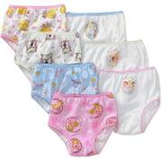 Disney Princesses Toddler Girls Ariel, Cinderella & Rapunzel Brief Underwear Panties, 7-Pack