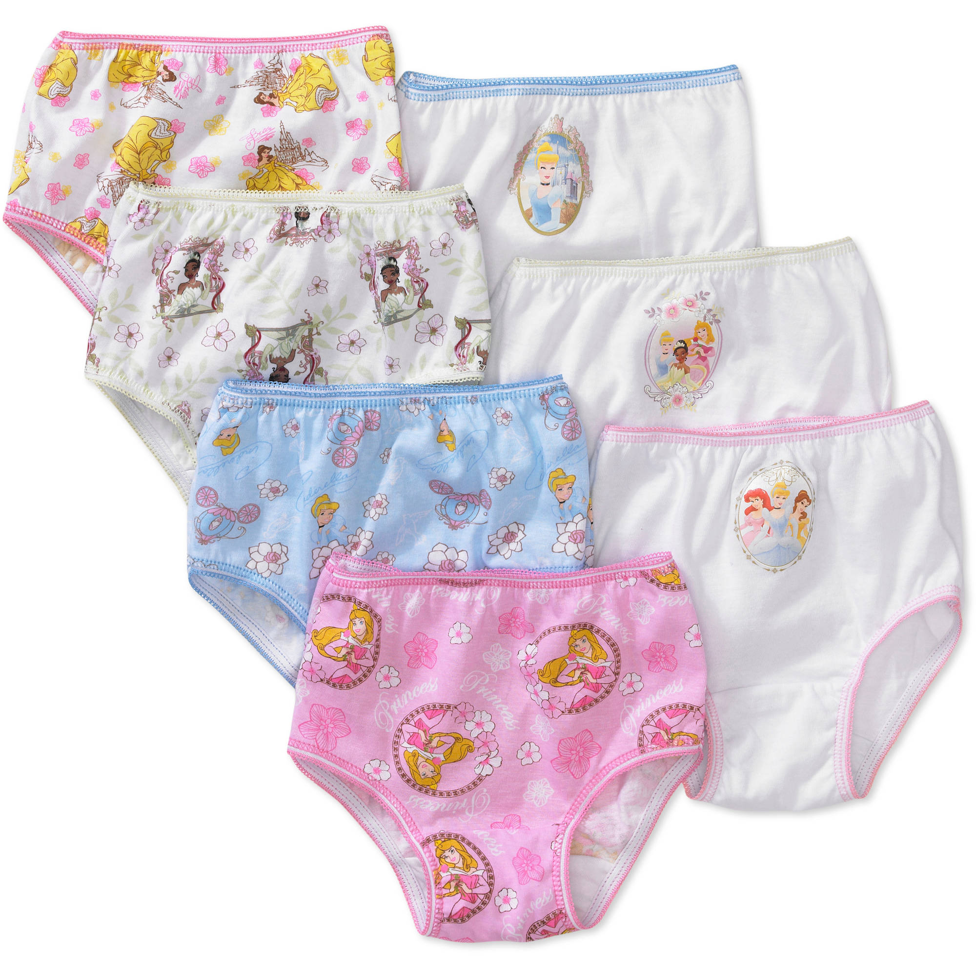 Disney - Toddler Girls' Princess Favorite Characters Underwear, 7-Pack