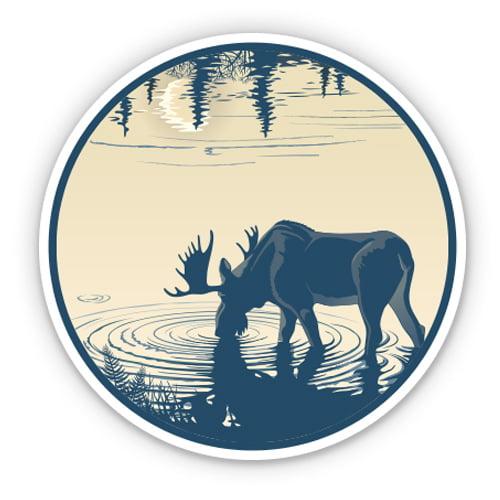 Vinyl Sticker Waterproof Decal GT Graphics Moose