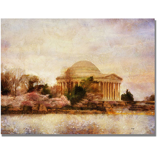 "Trademark Fine Art ""Thomas Jefferson Memorial"" Canvas Wall Art by Lois Bryan"