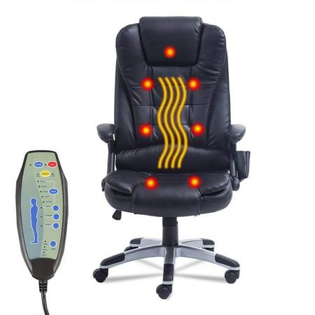 Swivel Gaming Massage Chair Ergonomic Pu Leather Executive