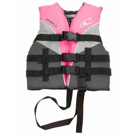 - O'Neill Child Superlite Life Vest: USCG Approved Nylon Lifejacket Kids 30-50 lbs