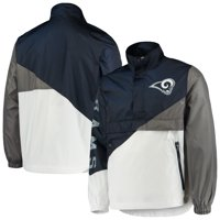 Los Angeles Rams G-III Sports by Carl Banks Double Team Half-Zip Pullover Jacket - Navy/White
