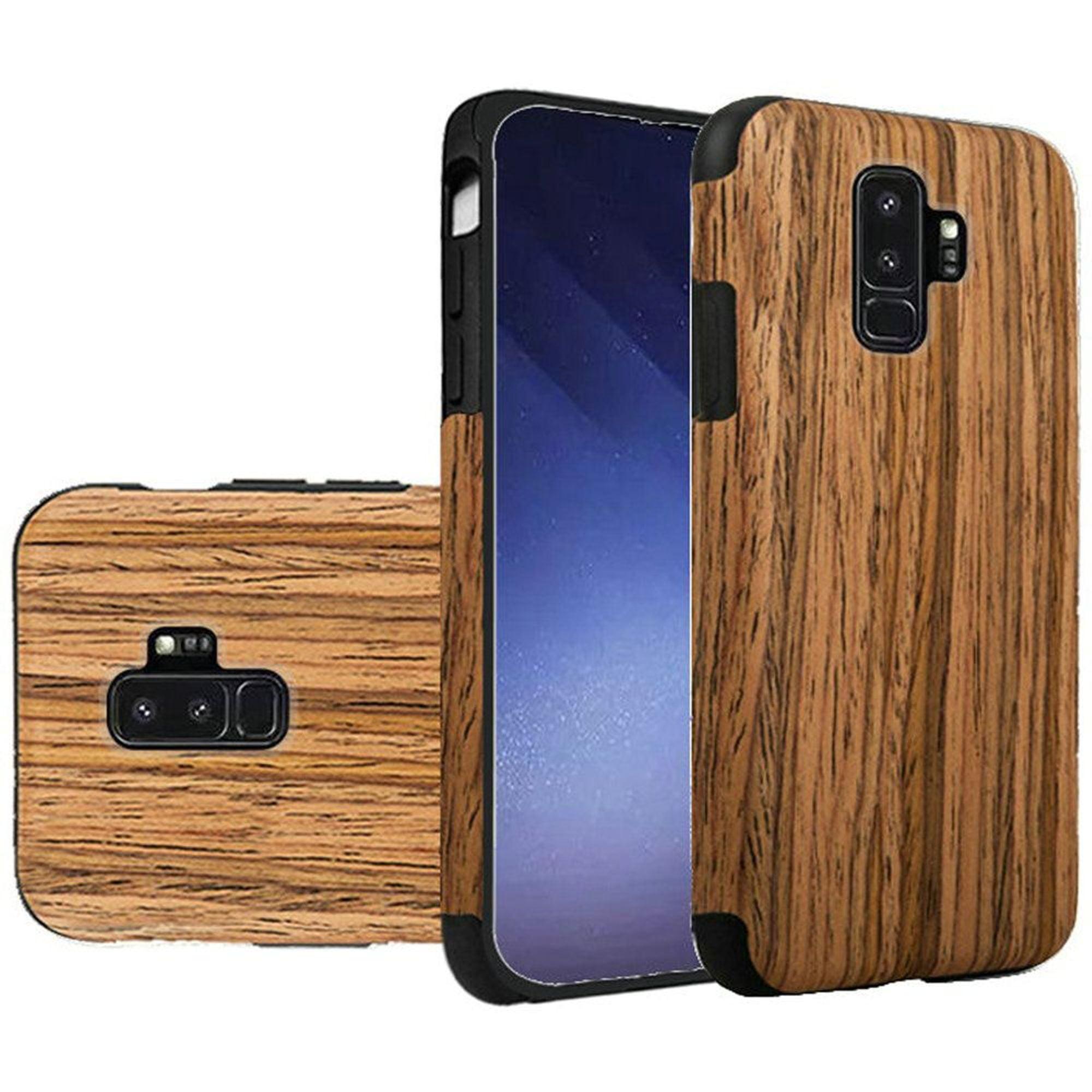 hot sale online 0dd2d 4e050 Samsung Galaxy S9 Plus Case, by HR Wireless Wood Grain TPU Rubber Candy  Skin Case Cover For Samsung Galaxy S9 Plus S9+