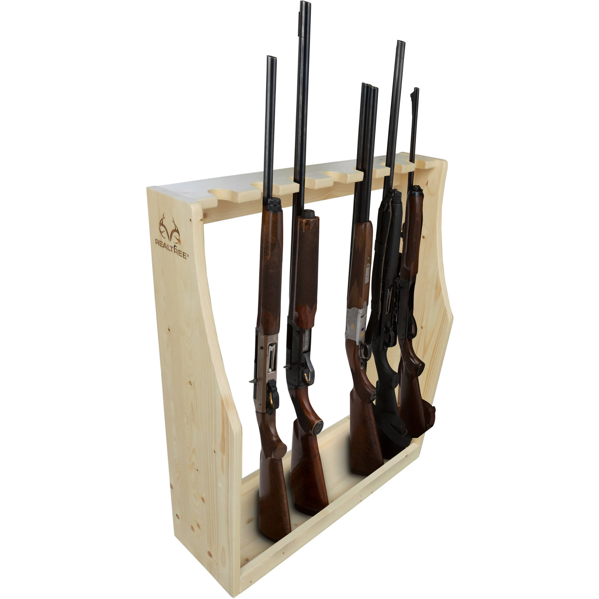 Rush Creek Creations REALTREE Freestanding 7 Gun Pine Storage Rack by Rush Creek Creations
