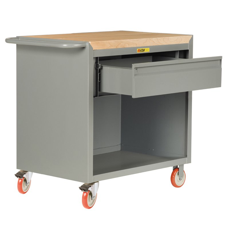 Little Giant Mobile Bench Cabinet with Heavy Duty Drawer