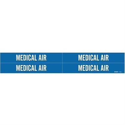 Pipe Marker, Medical Air, Bl, 3/4to2-3/8 In 2PK (Medical Pipe Marker)