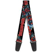 deadpool marvel comics antihero sword attack guitar strap