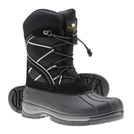 Arctic Shield Mens Warm Comfortable Insulated Waterproof Durable Outdoor Ski Winter Snow Boots (Male Ski Boots)