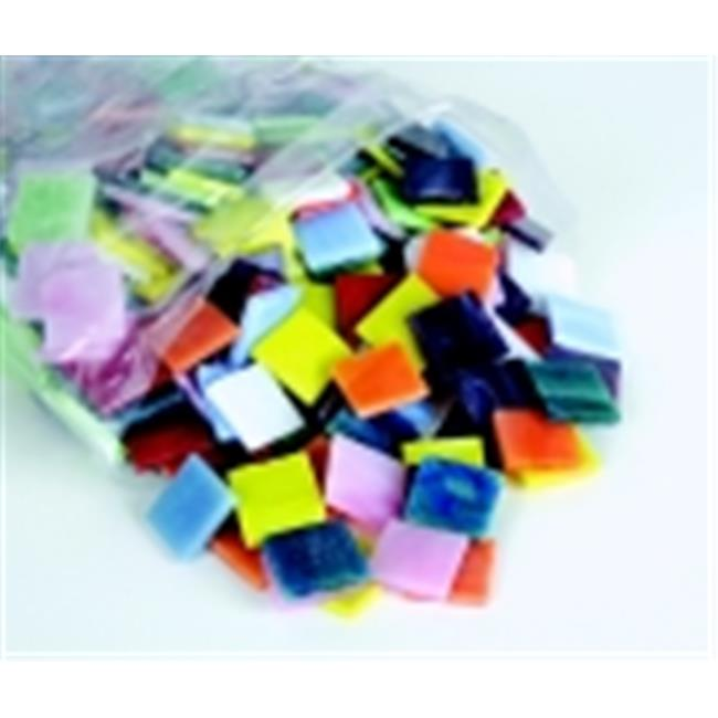School Specialty Stained Glass Square Mosaic Tile Assortment, Pack - 450